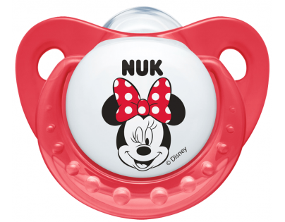 Nuk Dudlík Trendline Disney Mickey 0-6m - Červený