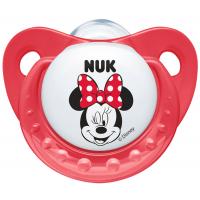 Nuk Dudlík Trendline Disney Mickey 6-18m - Červený