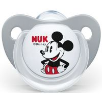 Nuk Dudlík Trendline Disney Mickey SI, V1 0-6m Šedá Mickey Mouse
