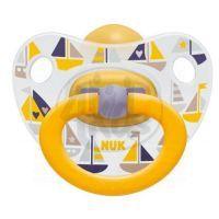 Nuk Dudlík Classic Happy Kids latex 6-18m - Lodičky
