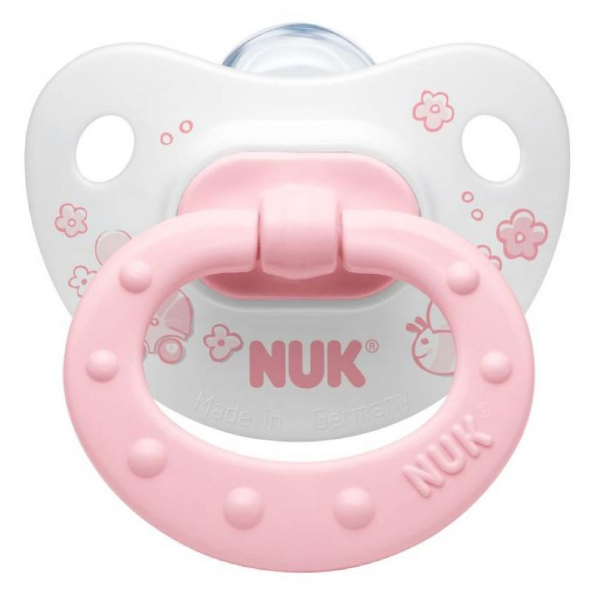 Nuk Dudlík Classic silikon růžový 0-6m
