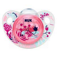 Nuk Dudlík Trendline Adore silikon 0-6m - Růžový