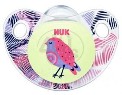 Nuk Dudlík Trendline Den a Noc silikon 6-18m - Pták