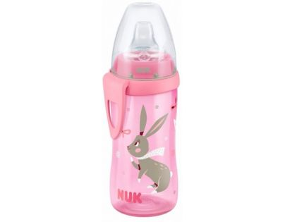 Nuk FC Active Cup Lahev 300 ml - Růžová s králíčky