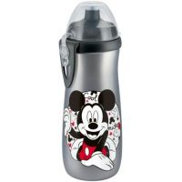 Nuk FC Láhev Sports Cup Disney Mickey 450ml SI Šedý, barevný Mickey Mouse