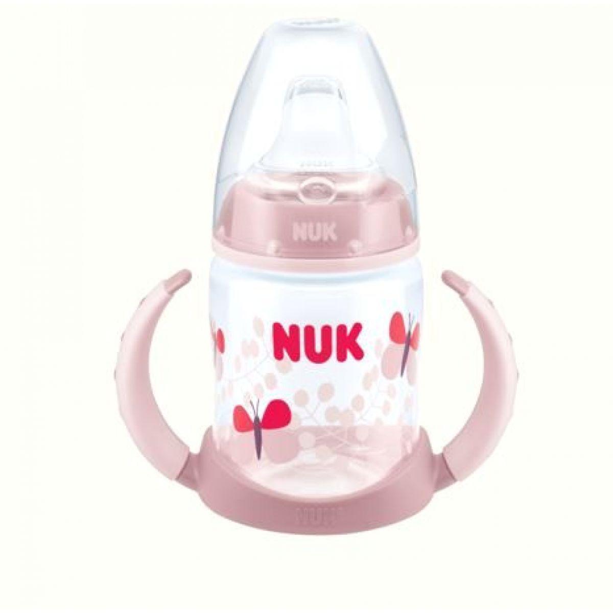 Nuk FC Lahvička na učení 150 ml - Světle růžová