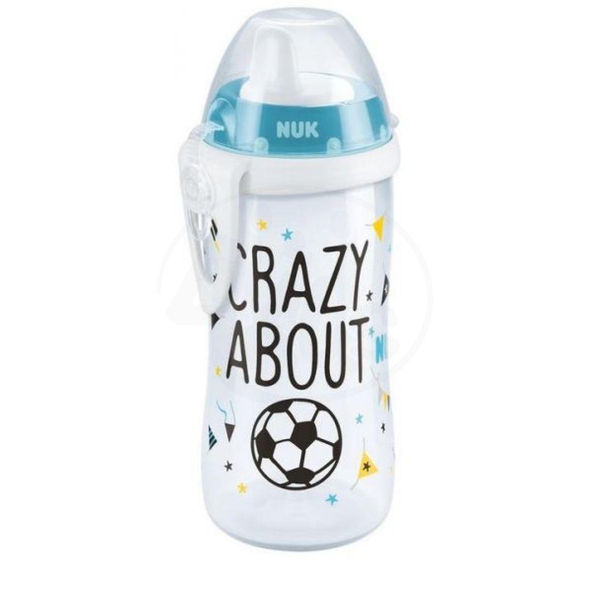 NUK First Choice Kiddy Cup láhev 300 ml fotbalová edice