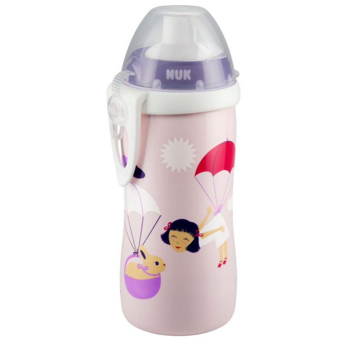 Nuk Láhev Flexi Cup 300 ml - Růžová holčička