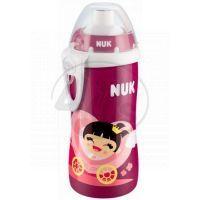 Nuk Láhev Flexi Cup 300ml - Růžová holčička v kočáře