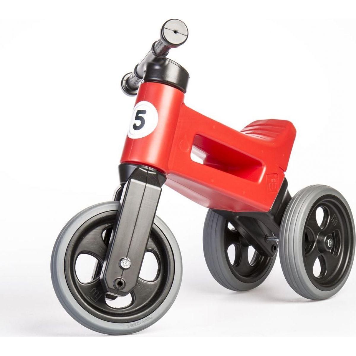 Funny Wheels Odrážedlo 2 v 1 červené