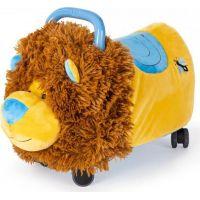 Odrážedlo Funny Wheels Rider Ride-On lvíček 50cm plyšový modrý