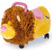 Odrážedlo Funny Wheels Rider Ride-On lvíček 50cm plyšový růžový