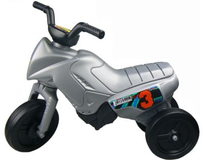 Odrážedlo motorka Enduro malé 150 - Stříbrná