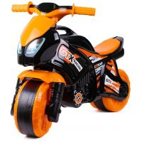 Odrážedlo motorka oranžovočerná Plast v sáčku 35 x 53 x 74 cm