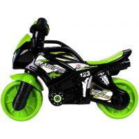 Odrážedlo motorka zelenočerná Plast se světlem se zvukem v sáčku 36 x 53 x 74 cm