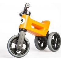Funny Wheels Odrážedlo 2 v 1 oranžové