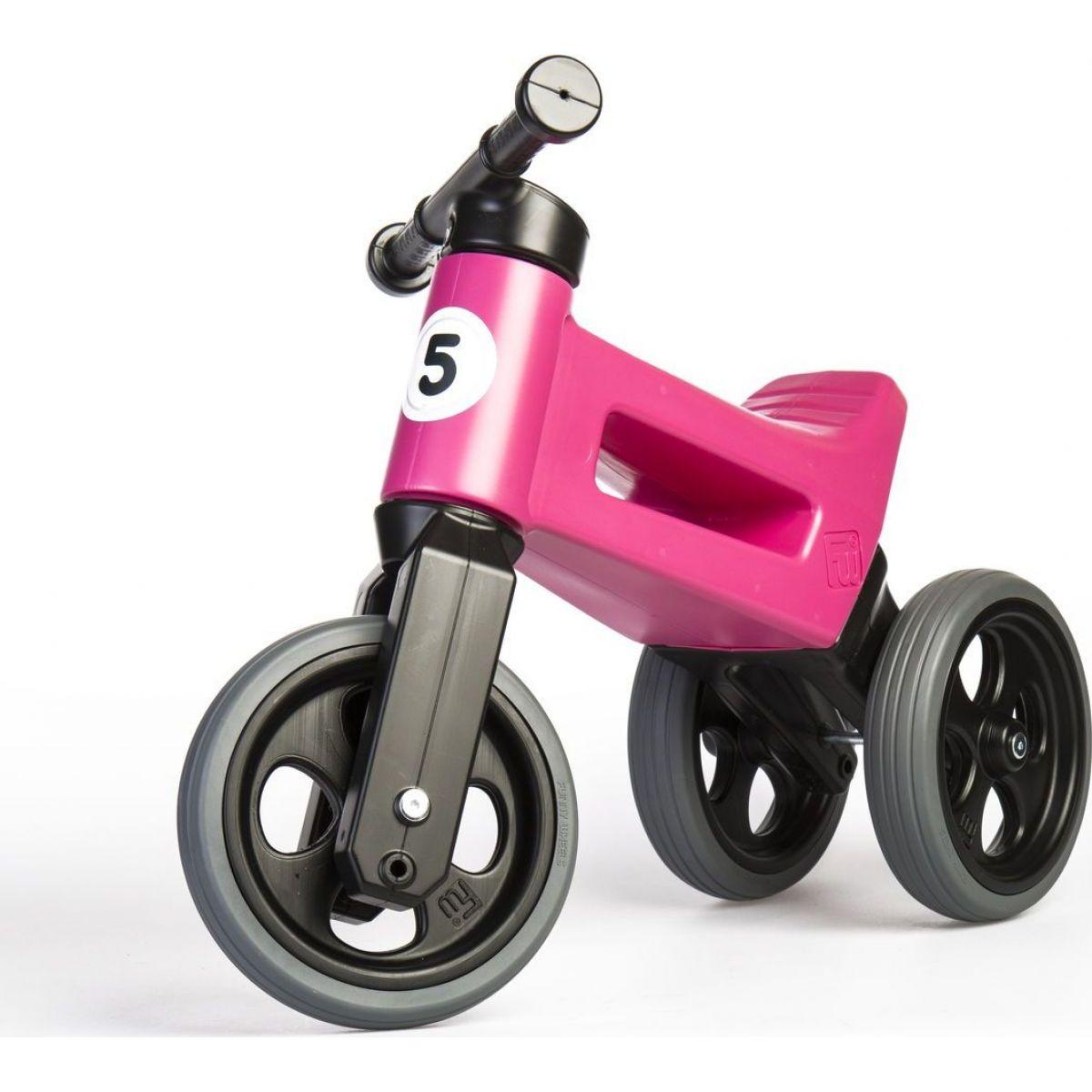 Funny Wheels Odrážedlo 2 v 1 růžové