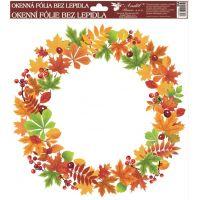 Anděl Okenní fólie Podzimní věnce listí se šípky 30 x 30 cm