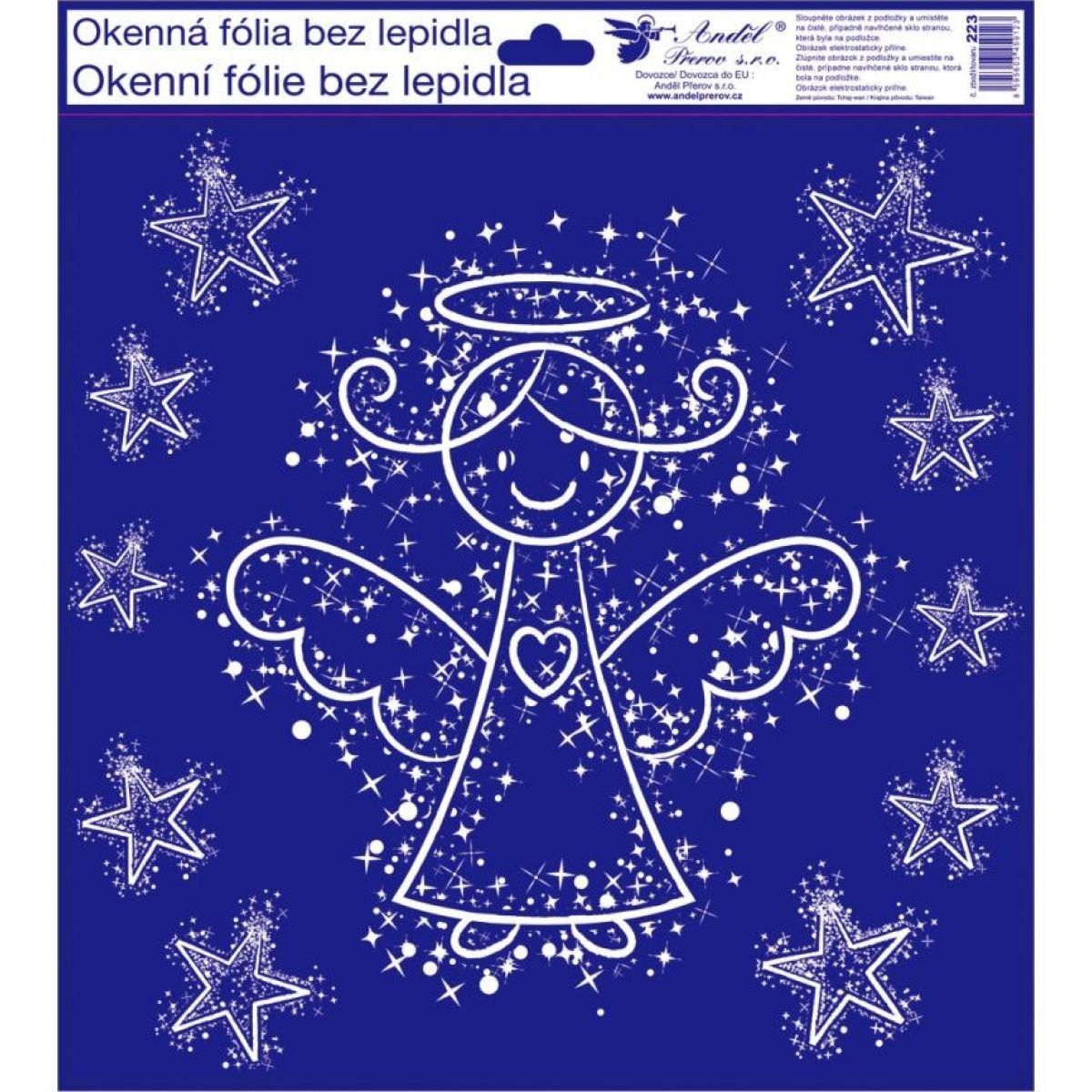 Anděl Okenní fólie 30 x 33,5 cm zimní motivy Andílek