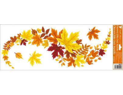 Anděl Okenní fólie pruhy listí 1. varianta 60 x 22 cm