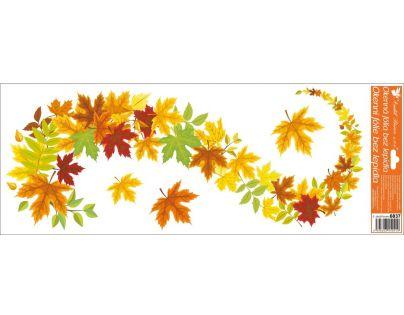 Anděl Okenní fólie pruhy listí 3. varianta 60 x 22 cm