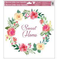 Okenní fólie věneček 33x30 cm Sweet Home