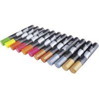 Easyoffice Olejové pastely Neon Metal 12 ks 2