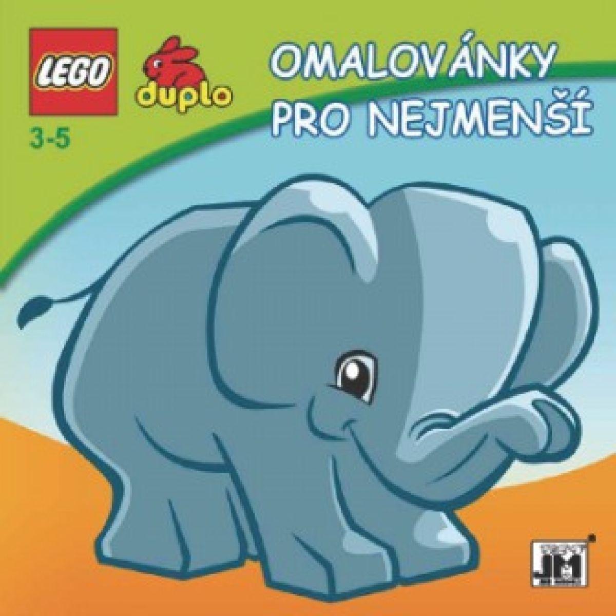 JIRI MODELS 0101380 Omalovánky LEGO DUPLO Slon (pastelky)
