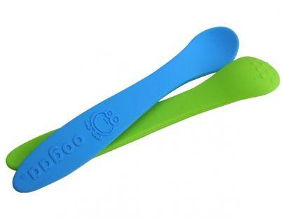 Oogaa Lžička Baby 2-pack - 2 druhy - Modrá