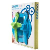 Oogaa Sada nádobí - Modrý talíř, modrozelený příbor 2