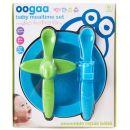 Oogaa Sada nádobí - Modrý talíř, modrozelený příbor 3