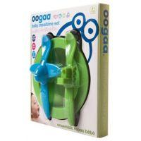 Oogaa Sada nádobí - Zelený talíř, modrozelený příbor 2