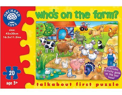Orchard Toys Puzzle Kdo žije  na farmě? 20 dílků