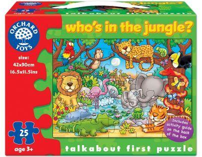 Orchard Toys Puzzle Kdo žije v džungli? 25 dílků