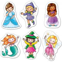 Orchard Toys Puzzle víly a princezny 6 obrázků 2