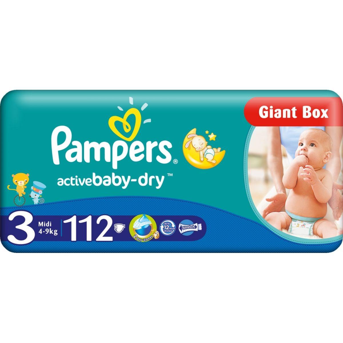Pampers Active Baby 3 Midi 112ks