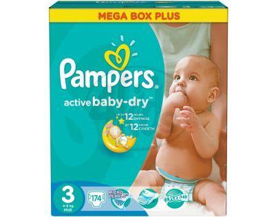 Pampers Active Baby 3 Midi 174ks