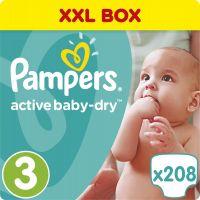 Pampers Active Baby 3 Midi 208ks