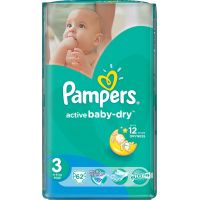 Pampers Active Baby 3 Midi 62ks