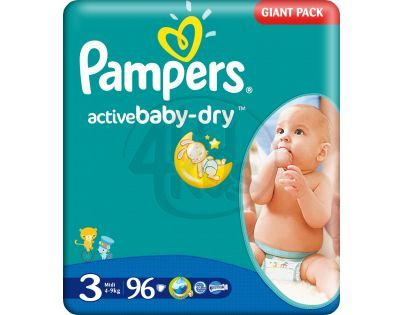 Pampers Active Baby 3 Midi 96ks