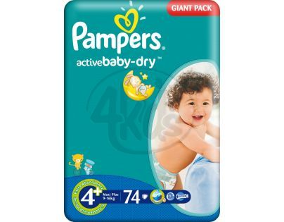Pampers Active Baby 4+ Maxi Plus 74ks
