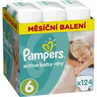 Pampers Active Baby 6 Extra Large 124ks