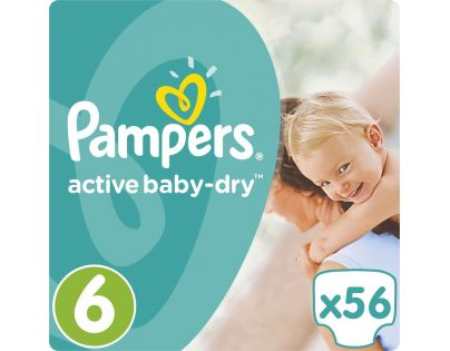 Pampers Active Baby 6 Extra Large 56ks