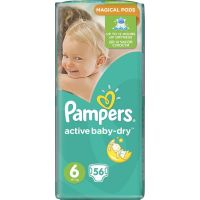 Pampers Active Baby 6 Extra Large 56ks 2