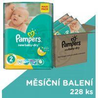 Pampers Active Baby Dry 2 Mini Měsíční balení 3x76ks