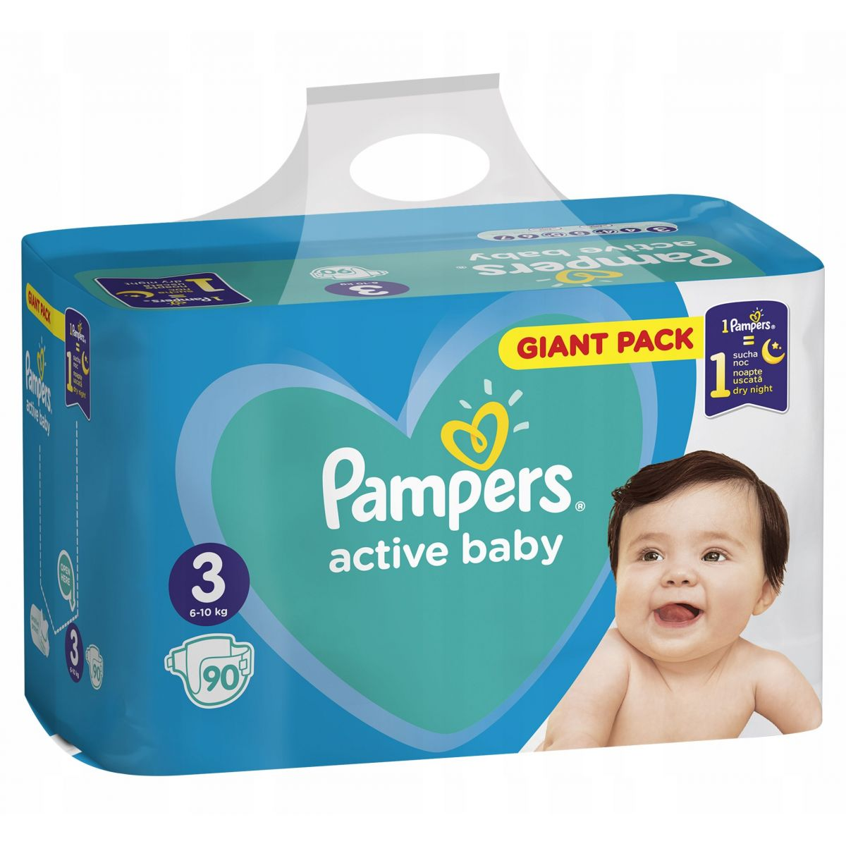 Pampers Active Baby Giant Pack S3 90ks