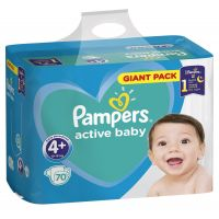 Pampers Active Baby Giant Pack S4+ 70ks