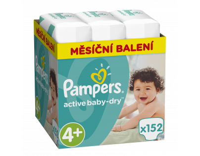Pampers Active Baby Monthly Box S4+ 152ks