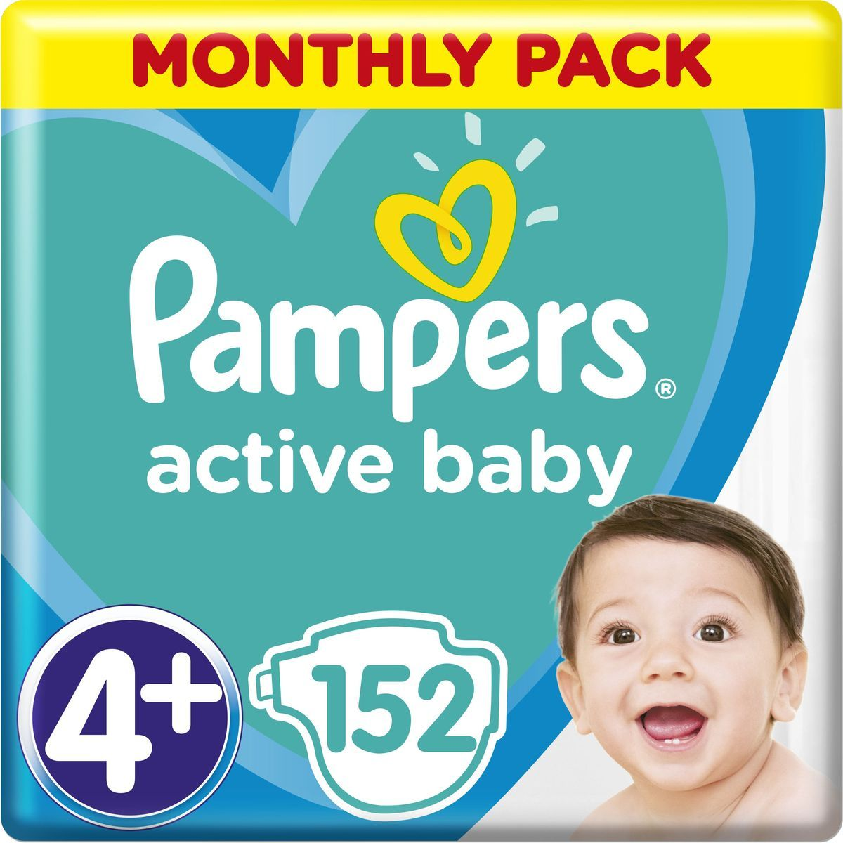 Pampers Active Baby Monthly Box S4 152ks