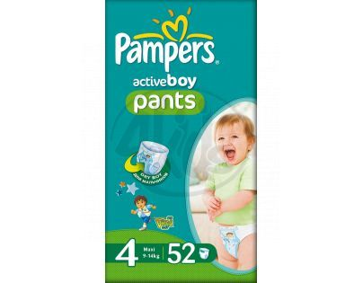 Pampers Active Pants Boy 4 Maxi 52ks